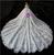 Light Champagne Lace Off the Shoulder Short Sleeve Wedding Dress