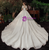 Lace Sequins Scoop Short Sleeve Beading Champagne Wedding Dress