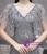 Silver Gray Mermaid Sequins V-neck Bat Sleeve Prom Dress