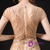 Champagne Scoop Mermaid Tulle Cap Sleeve Beading Prom Dress