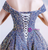 In Stock:Ship in 48 Hours Blue Tulle Sequins Formal Prom Dress