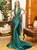 In Stock:Ship in 48 Hours Green Mermaid Satin Backless Party Dress