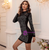 In Stock:Ship in 48 Hours Black Beading Long Sleeve Party Dress