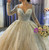 Ball Gown Tulle Sequins Long Sleeve Wedding Dress