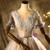 Tulle Sequins Appliques Short Sleeve Quinceanera Dress