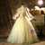 Green Tulle Appliques Long Sleeve Quinceanera Dress