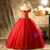 Red Tulle Sequins Beading Off the Shoulder Quinceanera Dress