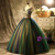 Colorful Tulle V-neck Embroidery Quinceanera Dress
