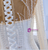 White Mermaid Tulle Long Sleeve Pearls Wedding Dress With Detachable Train
