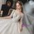 Tulle Long Sleeve Appliques Beading Wedding Dress