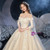 Tulle Lace Appliques Long Sleeve Wedding Dress