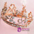 Wedding hair jewelry hair Champagne alloy rhinestone bridal tiara