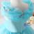 Fashion Light Blue Organza flower girl dress