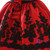 A-line Black And Red Print Short Sleeve Flower Girl Dress