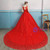 In Stock:Ship in 48 hours Red Tulle Wedding Dress