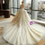 Ball Gown Scoop Appliques Ivory Haute Couture Wedding Dresses