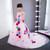Fashion Pink Tulle Trailing Flower Girl Dress Princess Dress