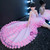 In Stock:Ship in 48 hours Pink Hi Lo Tulle Princess Flower Girl Dress