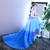 Blue Hi Lo Tulle Ruffles Appliques Flower Girl Dress