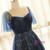 Plus Size Blue Tulle Sweetheart With Star Prom Dress
