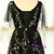 Plus Size Black Tulle Print Star V-neck Prom Dress