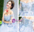 In Stock:Ship in 48 hours Blue Off The Shoulder Tulle Wedding Dress
