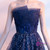 In Stock:Ship in 48 hours Strapless Blue Lace Up Prom Dress