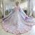 Haute Couture Ball Gown Blue Appliques Wedding Dress