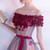 In Stock:Ship in 48 hours Pink Off The Shoulder Tulle Hi Lo Dress