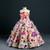 Ball Gown Multicolour Flower Strapless Flower Girl Dress