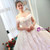 In Stock:Ship in 48 hours Ball Gown White Off The Shoulder Wedding Dress