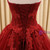 Burgundy Ball Gown Tulle Sweetheart Appliques Wedding Dress