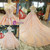 Pink Ball Gown Off The Shoulder Appliques Haute Couture Wedding Dresses