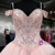 Ball Gown Cap Sleeve Sweet 16 Light Pink Beaded Quinceanera Dress