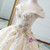 Luxury Champagne Ball Gown Appliques Long Train Wedding Dress
