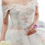 White Ball Gown Lace Off The Shoulder Flower Wedding Dress