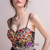 In Stock:Ship in 48 hours Colorful Flower Allure See Through Prom Dress