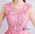 In Stock:Ship in 48 hours Pink Tulle Backless Appliques Homecoming Dress