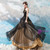In Stock:Ship in 48 hours Black Tulle Sweetheart Neck Prom Dress