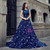 Blue Ball Gown Tulle Sequins Bling Bling Backless Wedding Dress
