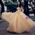 Champagne Sweetheart Neck Corset Tulle Backless Appliques Wedding Dress