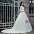 White Satin V-neck Backless Lace Long Sleeve Wedding Dress