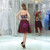 Burgundy Halter Chiffon Backless With Beading Homecoming Dress
