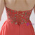 Red Chiffon High Waist Sweetheart Neck Homecoming Dress With Beading