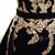Black Velvet Strapless Crystal With Long Train Wedding Dress