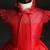 Red Satin High Neck Cap Sleeve Flower Girl Dress