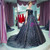 Navy Blue Ball Gown Off The Shoulder Tulle Sequins Quinceanera Dresses