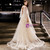 In Stock:Ship in 48 Hours Champagne Tulle Appliques Backless Prom Dress