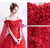 In Stock:Ship in 48 Hours Red Tulle Appliques Wedding Dress