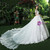 White Tulle Lace Cold Shoulder Backless Appliques Wedding Dress